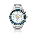 Mens Stainless Steel with Blue Bezel Sports watch