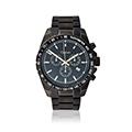Mens Black and Rose Gold Sports watch