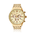 Mens Traditional Yellow Gold Coloured Watch