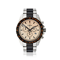 Mens Black and Stainless Steel Sports Watch