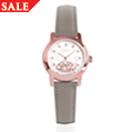 Rose Gold Plated Diamond Baroque Ladies Watch
