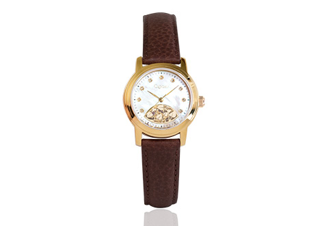 Yellow Gold Plated Diamond Baroque Ladies Watch *SALE*