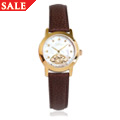 Yellow Gold Plated Diamond Baroque Ladies Watch