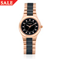 Black Ceramic and Rose Steel Ladies Watch *SALE*