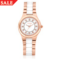 White Ceramic and Rose Steel Ladies Watch *SALE*