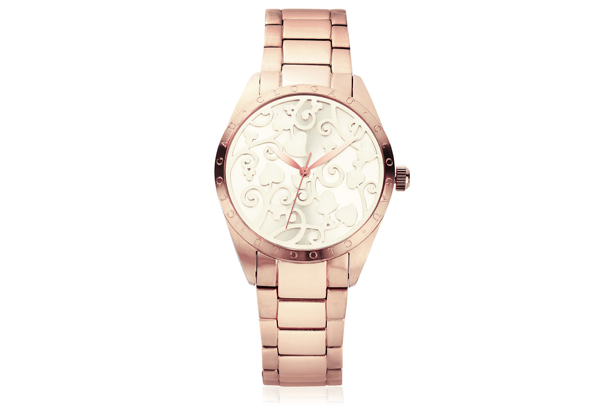 Cream Enamel Faced Tree of Life Watch