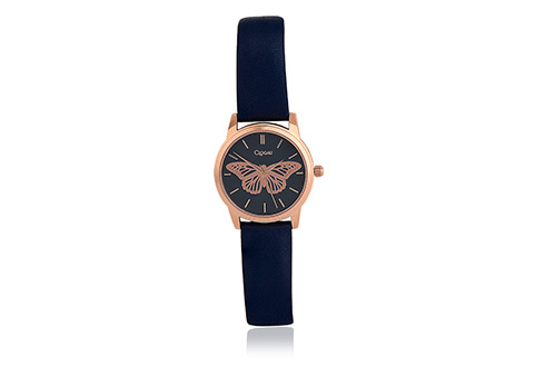 Navy Butterfly Watch