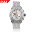 WRU White Mother of Pearl Stainless Steel Watch