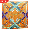 Orange & Turquoise Polo Scarf *SALE*
