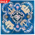 Silk Royal Clogau Navy & Gold Scarf *SALE*