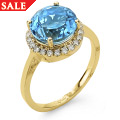 Ar Dan Blue Topaz Ring