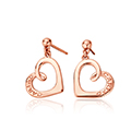Cariad Heart Earrings