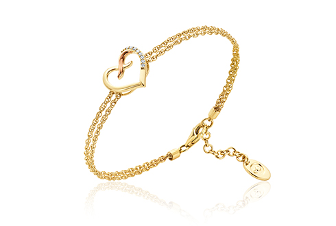 Clogau Kiss Diamond Heart Bracelet