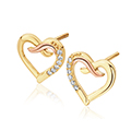 Clogau Kiss Diamond Stud Earrings