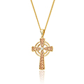 Welsh Royalty Diamond Cross Pendant