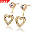 David Emanuel White Topaz Heart Earring Jackets *SALE*