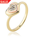 David Emanuel White Topaz Heart Ring *SALE*