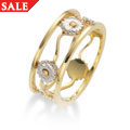 White & Yellow Gold Daisy Ring *SALE*