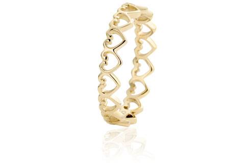 9 Carat Gold Heart Affinity Stacking Ring