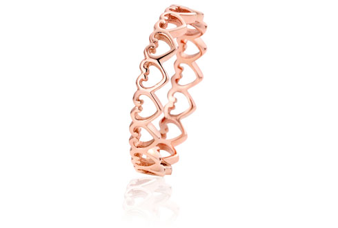 Women's Jewellery Heart Affinity Stacking Ring