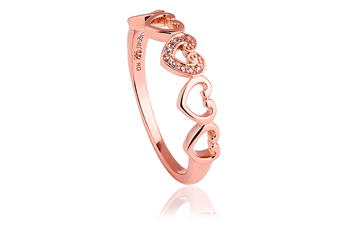 Gold Affinity Heart Ring