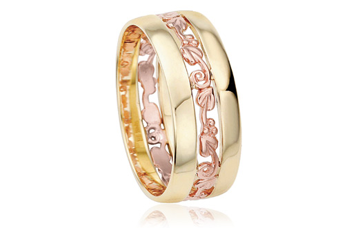 Tree of Life Triple Band Wedding Ring