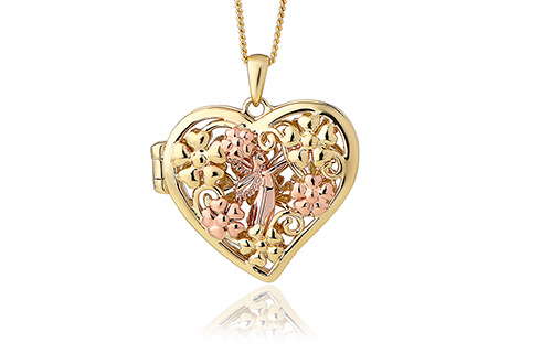 locket collectible brass heart figurines lockets dp jewelry enclosed urn in necklace amazon com