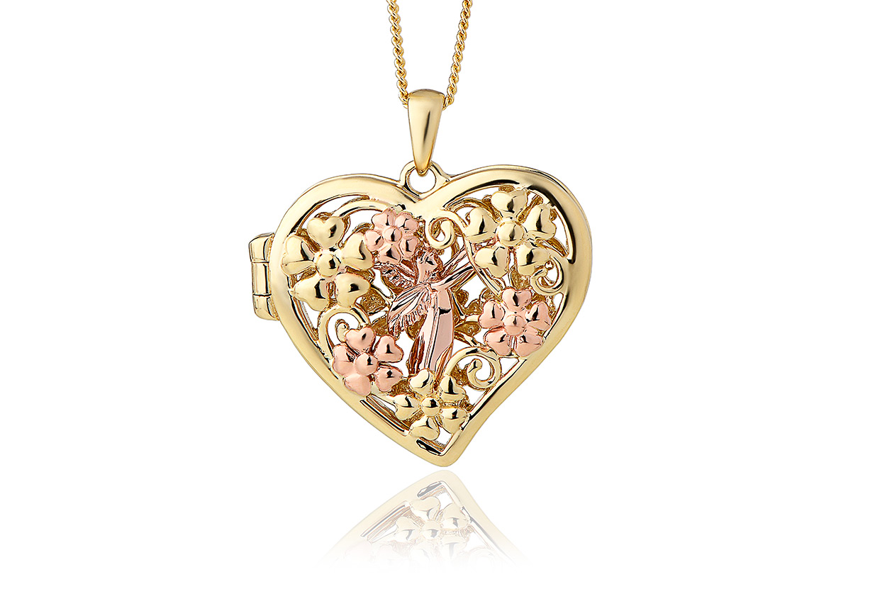 jtn heart ribbon floating pendant lockets necklace open bling silver appl jewelry