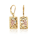 Tylwyth Teg White Mother of Pearl Drop Earrings