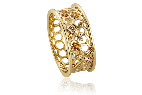 Honey Bee Honeycomb Ring