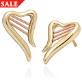 Heart Strings Stud Earrings
