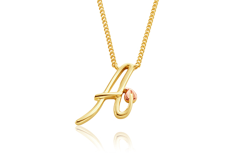 Tree of Life Initials Necklace - Letter A