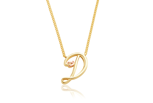 Tree of Life Initials Necklace - Letter D