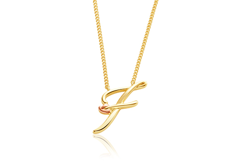 Tree of Life Initials Necklace - Letter F