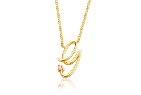 Tree of Life Initials Necklace - Letter G