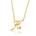 Tree of Life Initials Necklace - Letter H