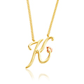 Tree of Life Initials Necklace - Letter K