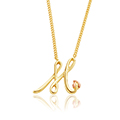 Tree of Life Initials Necklace - Letter M