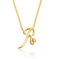 Tree of Life Initials Necklace - Letter R