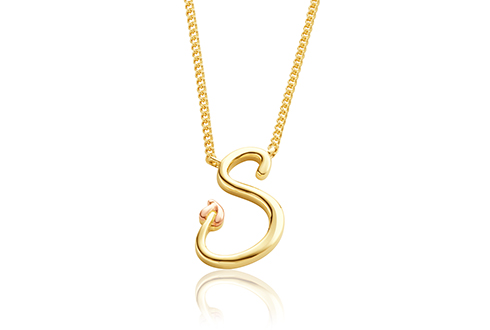 Tree of Life Initials Necklace - Letter S