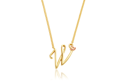 Tree of Life Initials Necklace - Letter W