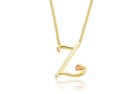 Tree of Life Initials Necklace - Letter Z