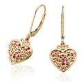 Kensington Heart Drop Earrings