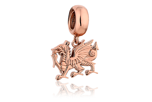 Welsh Dragon Milestones Bead Charm