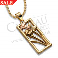9ct Yellow & Rose Gold St Davids Daffodil Pendant *SALE*