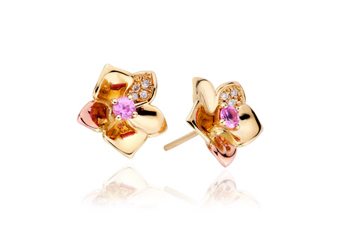 Orchid diamond earrings *SALE*