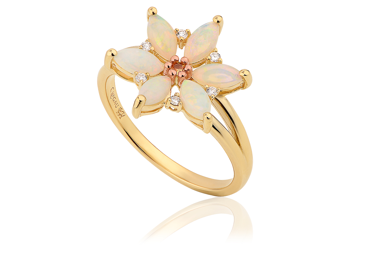 Snowdon Lily Opal Ring