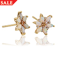 Lady Snowdon Opal Earrings