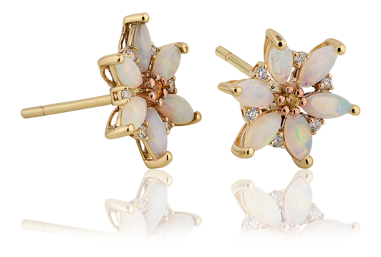 Snowdon Lily Opal Earrings