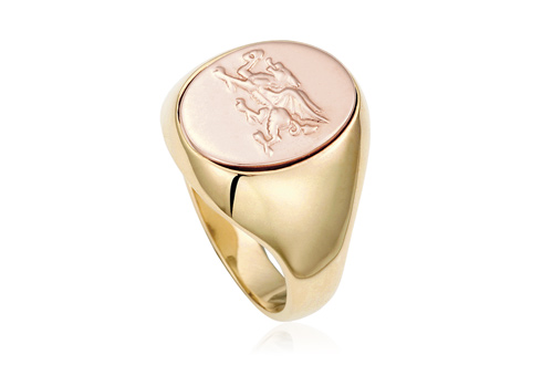 Welsh Dragon Signet Ring